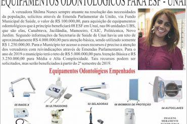 Equipamentos Odontológicos para ESF-Unaí