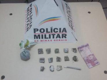 PM prende rapaz alvo de denúncias no 181 por envolvimento com o tráfico ilícito de drogas no bairro Nova Canaã