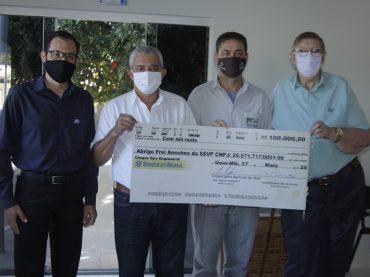 Abrigo Frei Anselmo recebe doação de 100 mil reais da Coagril