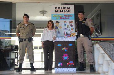 Polícia Militar e Escola Municipal, lançam campanha de arrecadação de brinquedos