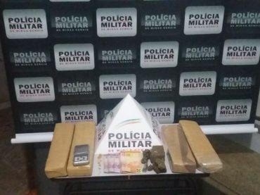 Denúncias do 181 levam a Polícia Militar a apreender quase 5kg de Maconha em Unaí
