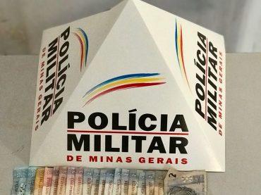 Polícia Militar faz apreensão de suspeito de trafico de drogas