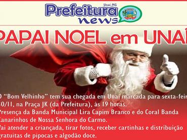 ATENÇÃO: Papai Noel chega a Unaí nesta SEXTA-FEIRA