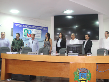 Audiência pública para apresentação dos Planos Municipais de Saneamento Básico, Gestão Integrada de Resíduos Sólidos e Gestão de Resíduos da Construção Civil e Demolição